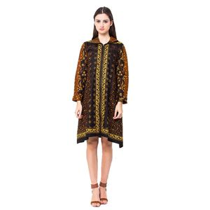 Batik Trusmi Dress Sleting Motif Sogan Tulis