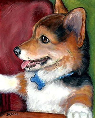 "Corgi Dog Art Print, Cardigan Corgi, Tri-colored Corgi, Print of Original Dog Painting by Dottie Dracos,. Pembroke Corgi Puppy, Sitting Up, DOG ART PRINT FROM ORIGINAL PAINTING BY DOTTIE DRACOS ************* MULTIPLE SIZES AVAILABLE (Shipping price same on ALL sizes) 1. 8x10"" 2. 11x14"" 3. 12x15"" 4. 13x16.25"" ******************************************* *************************************** This open edition art print is from an original painting by me. All prints are printed on high…"