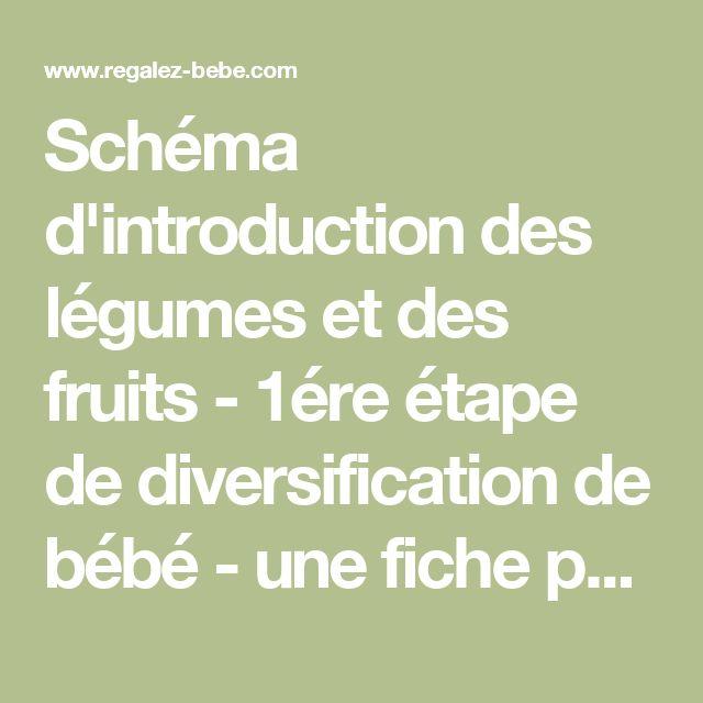 Schéma d'introduction des légumes et des fruits - 1ére étape de diversification de bébé - une fiche pratique de Régalez Bébé