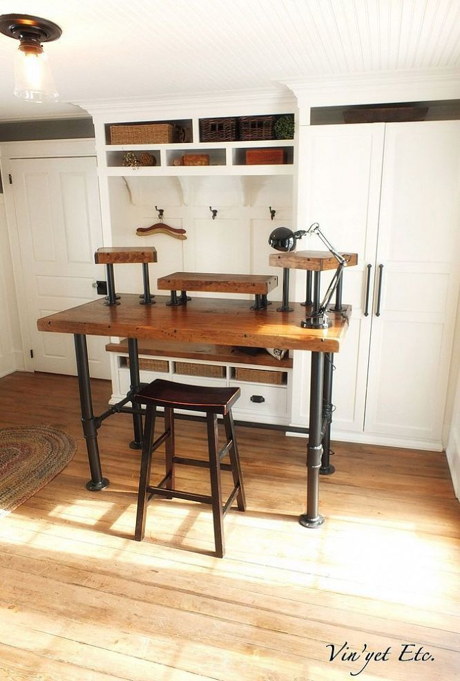 Industrial desk reveal 1 - 3 :: Hometalk