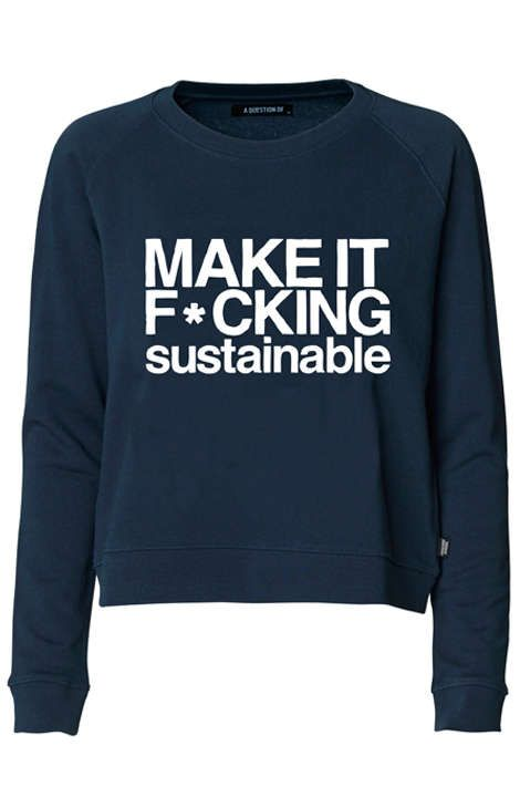 'A Question Of' Creates Rocking Eco-Wear with an Attitude #ecofriendly #fashion trendhunter.com