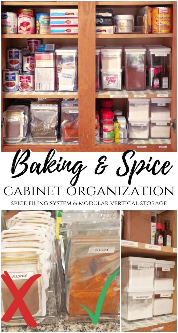 Baking And Spice Cabinet Organization Tips January Pinterest