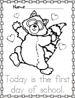 Chester Raccoon Coloring Sheet Freebie
