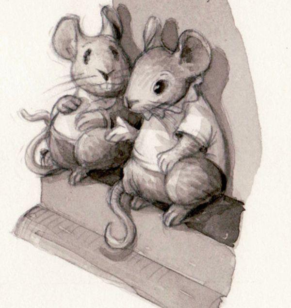 картинки новогодних крыс карандашом эти