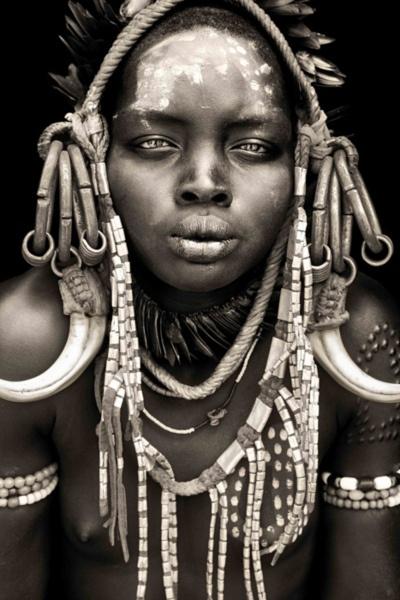 *mursi girl from mago / omo valley.  Photo taken by Mario Gerth