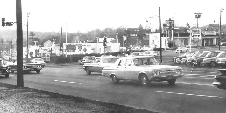 Bloomfield ave and route 23 in verona nj 1965 photo courtesy of james lee carr vintage essex for Brookdale gardens bloomfield nj