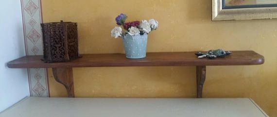 Mensola in legno da appendere-scaffale da appendere-ripiano da