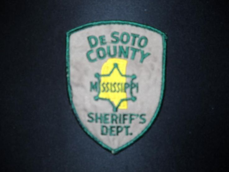 Embroidered Sheriff's Department Patch Obsolete Out of Service