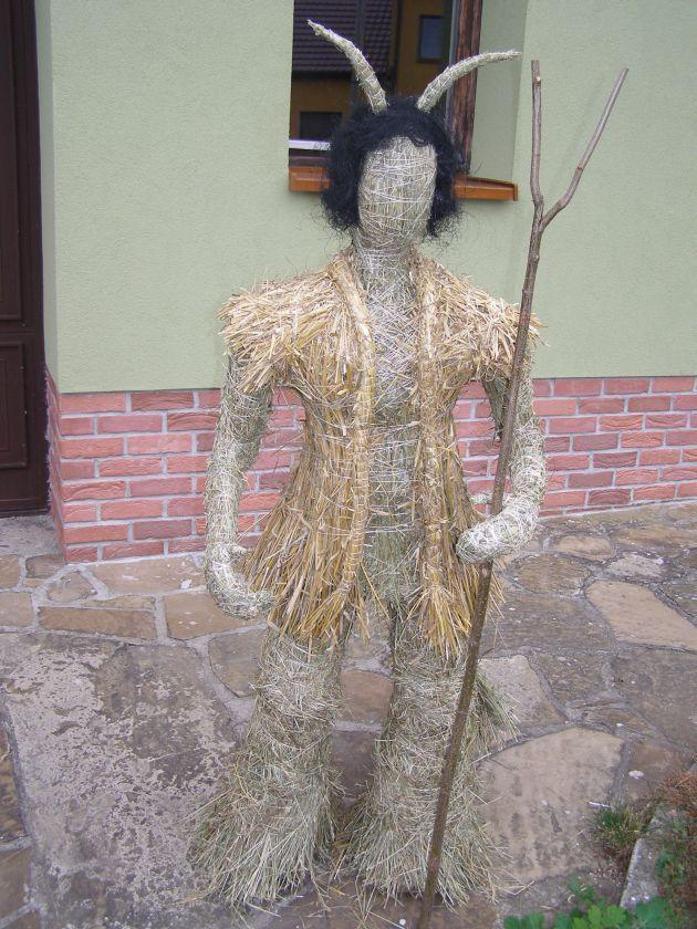 Slámové postavy | Výrobky z přírodních materiálů