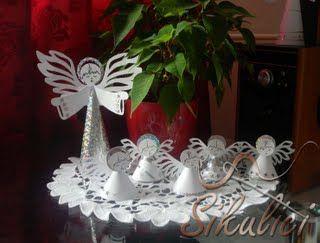 Anděl z papíru, paper angels diy free printable
