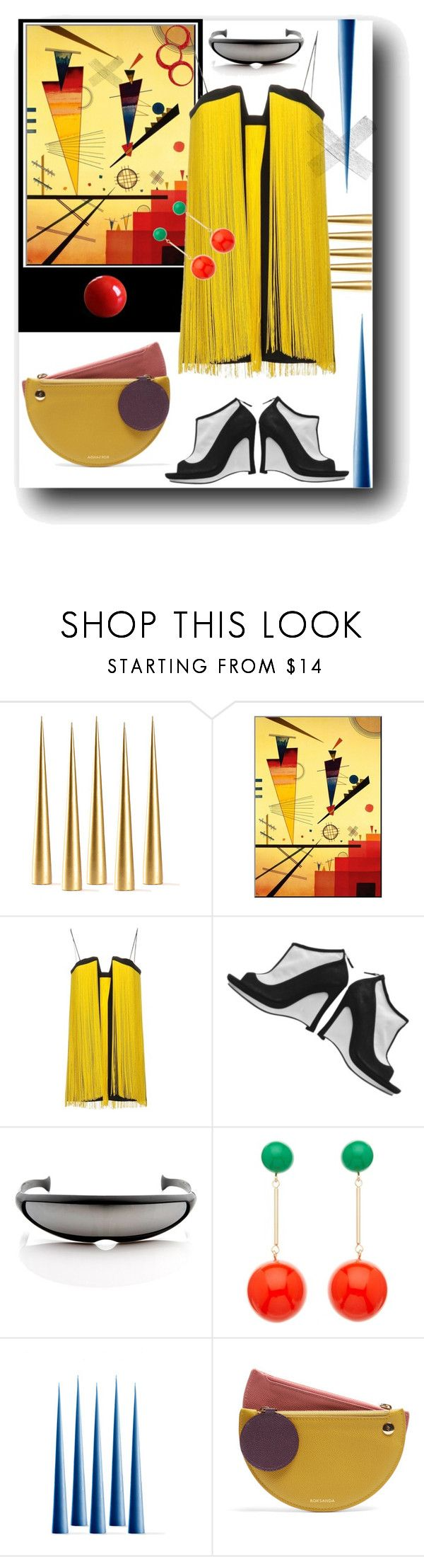 """Spaced Kandinsky"" by kitty-kimber ❤ liked on Polyvore featuring Space Style Concept, Karl Lagerfeld, ZeroUV, J.W. Anderson, Roksanda, contest and kandinsky"