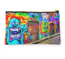 Monsters in the Grafitti Filled Hosier Lane - Melbourne, Victoria Studio Pouch