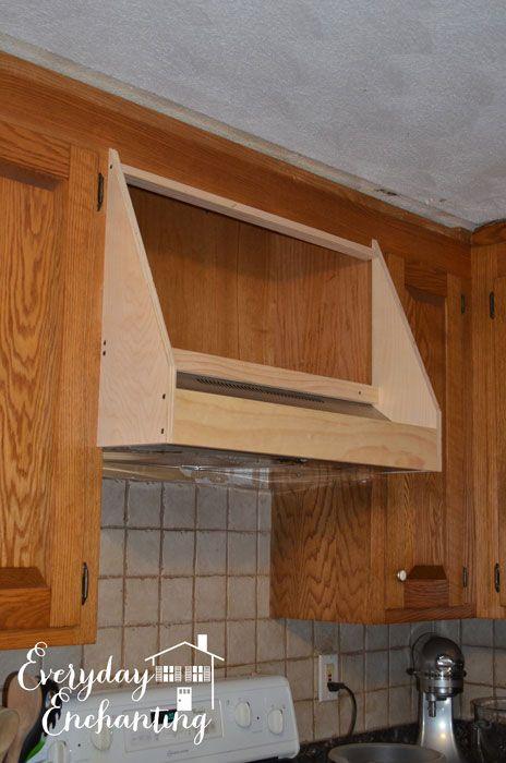 Diy storage range hood custom vent cover tutorial - Kitchen hood ideas ...