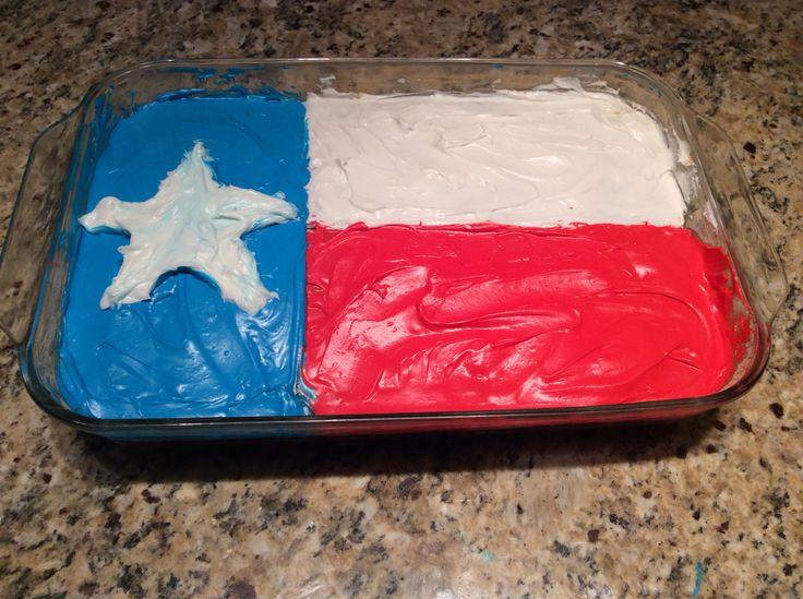 texas flag cake