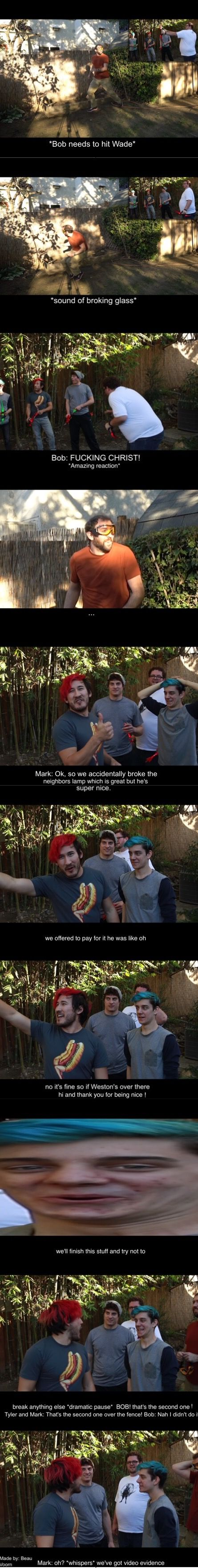 Markiplier/Mark, CrankGamePlays/Ethan, LordMinion777/Wade, Muyskerm/Bob and Tyler - Part 1 made by: Beau Voorn - WE BROKE SOMETHING!! | Arrow Doge Challenge #3