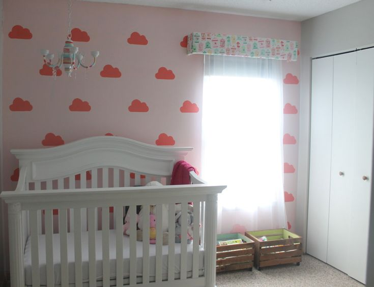 Cloud Wall Mural for Baby Nursery