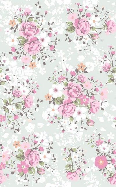 Phone Wallpaper - Pink Floral Antique