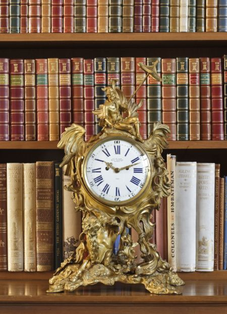 Anglesey Abbey Regency rococo revival mantle clock by James McCabe in the Library. ©National Trust Images/John Hammond: Antique Clocks, Amazing Clock, Revival Mantle, Book, Library Clock, Rococo Revival