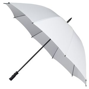 """Wholesale 55"""" White Wedding Golf Umbrellas. The golf course, sporting events, outdoor concerts or just a plain rainy day, this golf umbrella will please even the most discriminating owner. Our golf umbrella is designed to keep you safe and comfortable no matter what the weather. Price per umbrella. Sold per case of 12 only. http://www.giftguys.com/Cheap-Umbrellas-s/313.htm"""