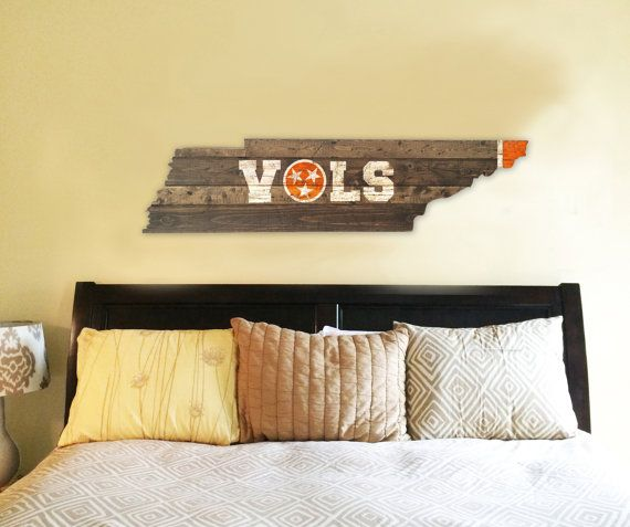 Tennessee Vols Man Cave Ideas : University of tennessee vols wooden state flag cut out
