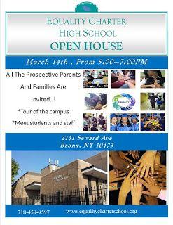 Caitlin Franco (Equality Charter School) | Blogspot: Equality Charter High School OPEN HOUSE - March 14...
