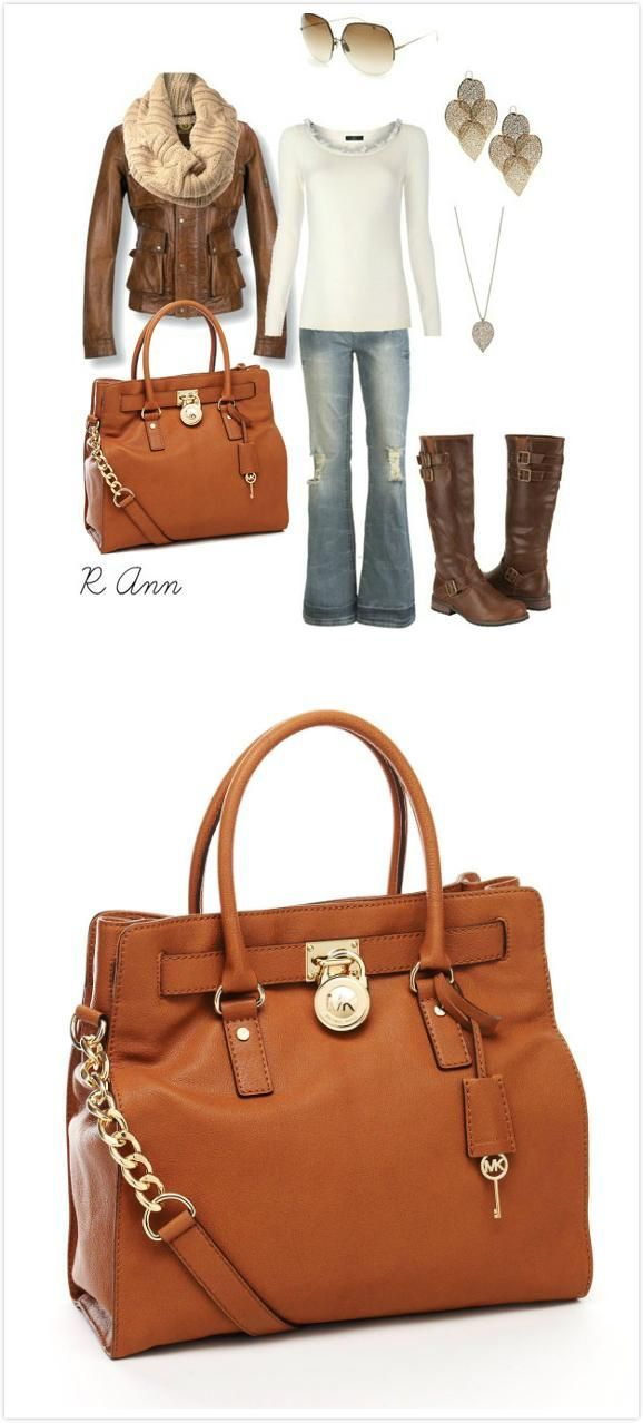 Fashion Outlet!Love the Michael Kors Bag!! #fall #outfit $65