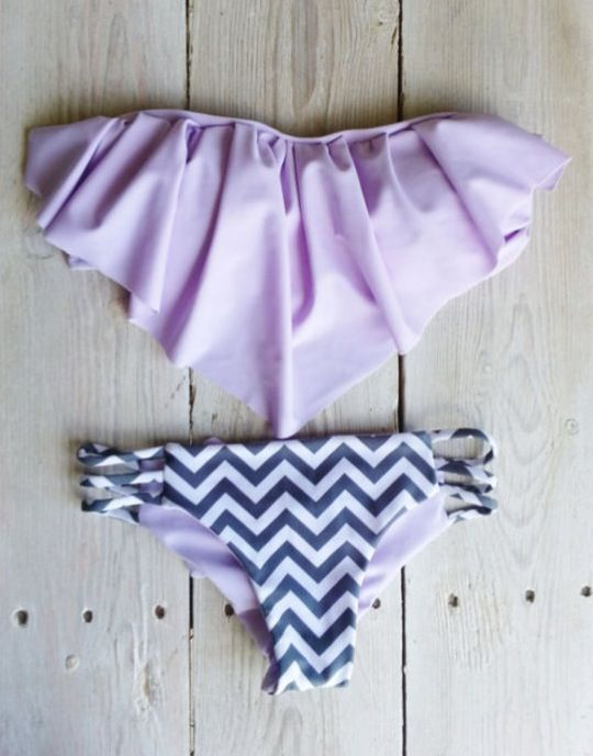 Purple and chevron bikini