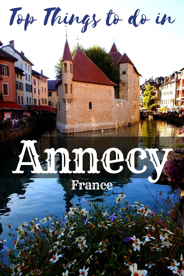 Annecy, France is a charming alpine town with flower-bedecked canals and pastel-colored buildings and restaurants set along the canal. There are several churches, a castle and the gorgeous Annecy you can visit and explore on your visit