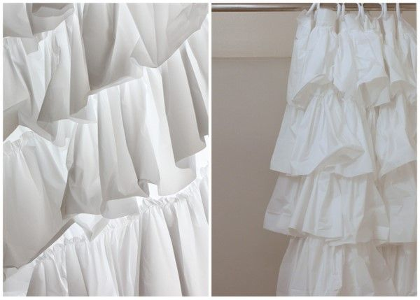 Tutorial On Making Your Own 39 Anthropologie Look A Like 39 Ruffle Shower Curtain A Pinterest