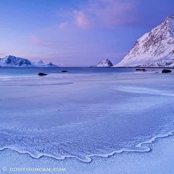 Winter beach, Norway