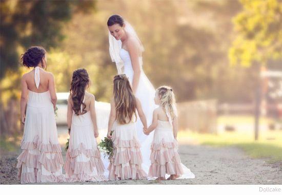 Bondville: Dollcake boho bloem meisje jurken voor meisjes