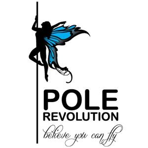 This logo blends beauty, art, and fitness together to reflect the pole and burlesque classes offered at Pole Revolution. Description from…