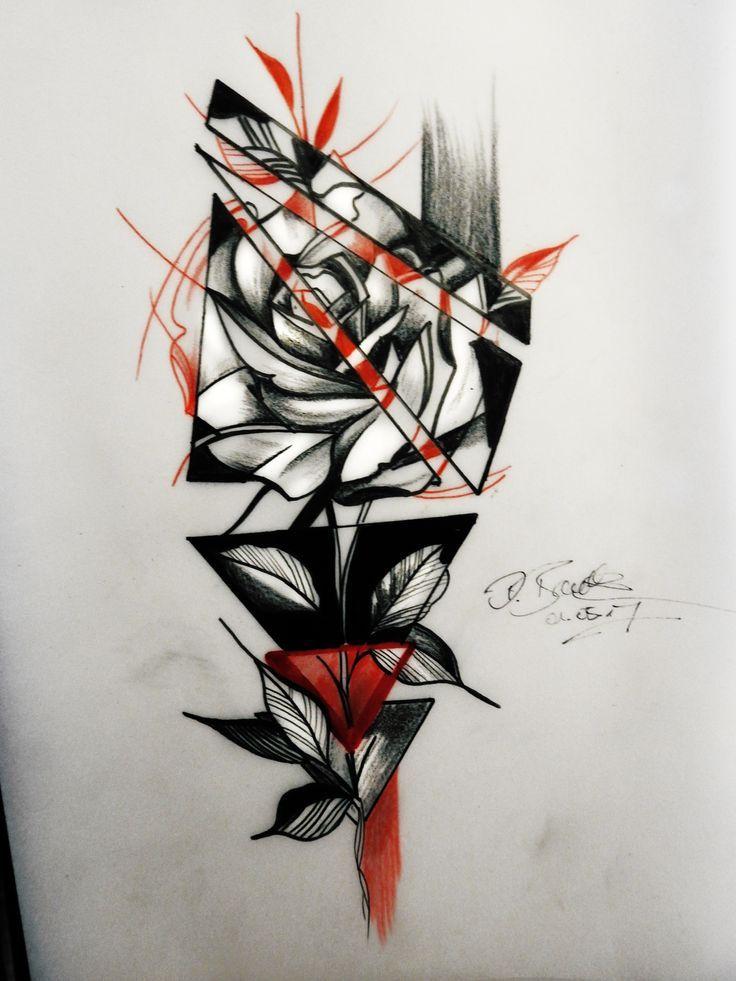 Trash Polka Rose Drawing