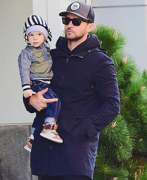 JT and son Silas knocking it out in NYC  #JustinTimberlake #JT #Silas #Timberlakes #FatherandSon #NYC