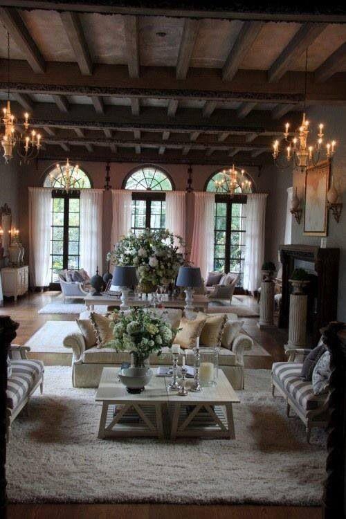 3442 best living room decor images on pinterest for Rustic elegant homes