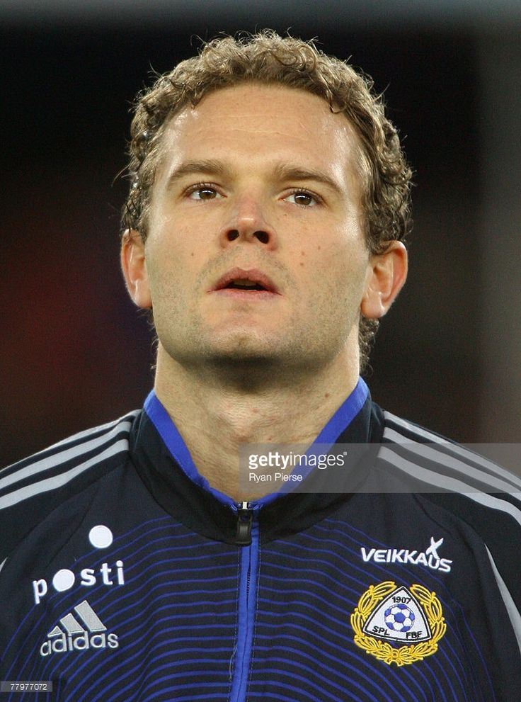 Jonatan Johansson of Finland looks on before the Euro 2008 Group A qualifying match between Finland and Azerbaijan at the Olympic Stadium on November 17, 2007 in Helsinki, Finland.