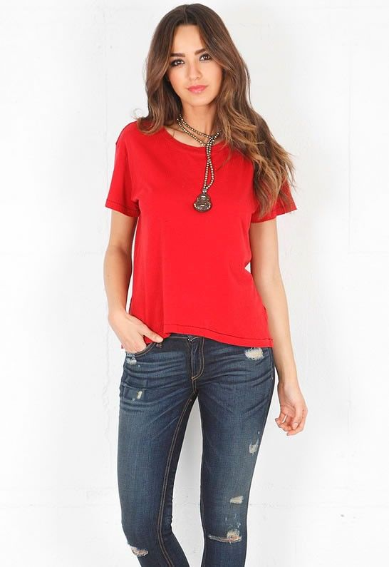 The Freshman Tee in Sangria - designed by Current/Elliott #fashion2013 #fashiontrend