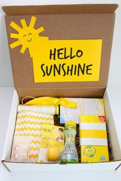 Hello Sunshine gift to cheer up a friend via SmashedPeasandCarrots.com