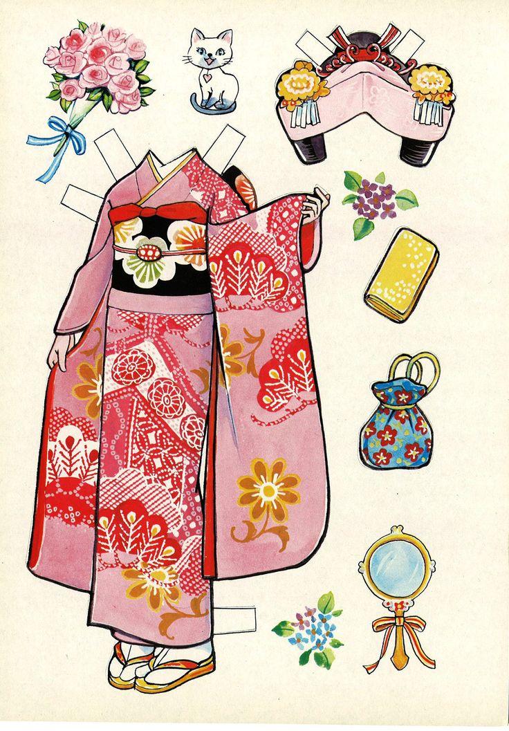 着せ替え人形 Japanese dress-up doll