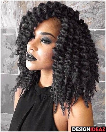 Twist Out Crochet Braids Lob Hair Envy Hair Styles Braided