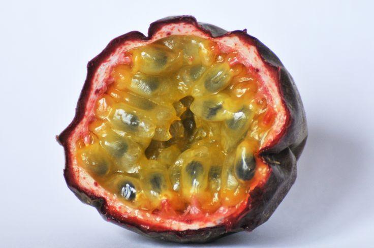 Romige mascarpone met appeltjes en passievrucht
