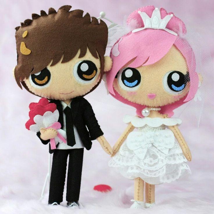 Groom Bride Felt Anime Japanese Doll Felt Ni 241 Os