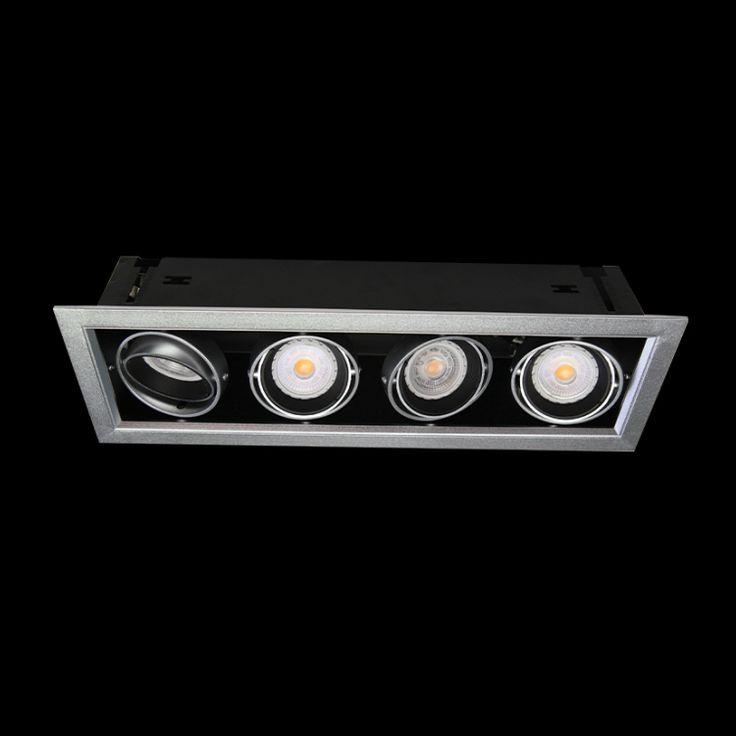 4x7W LED GU10 Rectangular Down Light