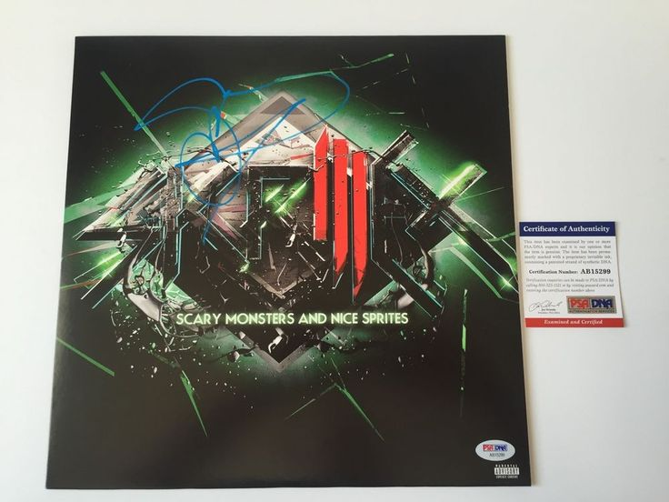 SKRILLEX signed SCARY MONSTERS AND NICE SPRITES LP Vinyl Record Album EDM DJ PSA