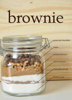 Brownie in a Jar  #shopfesta #mesadedoces