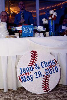 Wedding, Reception, White, Blue, Red, Photography, Baseball, Hollis