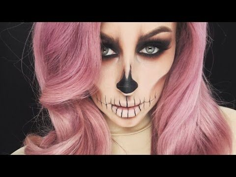 easy skull halloween tutorial chrisspy youtube - Halloween Tutorials