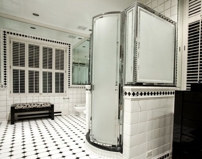 98 best art deco bathroom ideas images on pinterest for Small art deco bathroom ideas