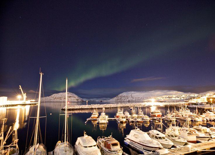 Northern light in Hammerfest, Norway Photo: Elisabeth Johnsen