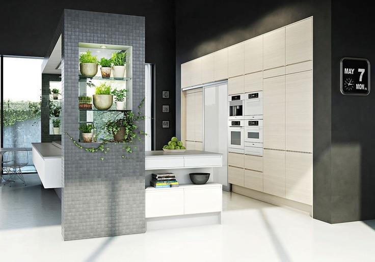 U shape kitchen island + place to grow herbs